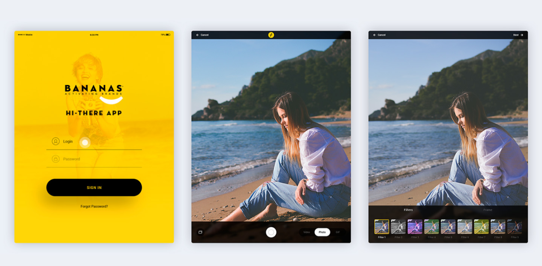HI THERE APP – tablet screens