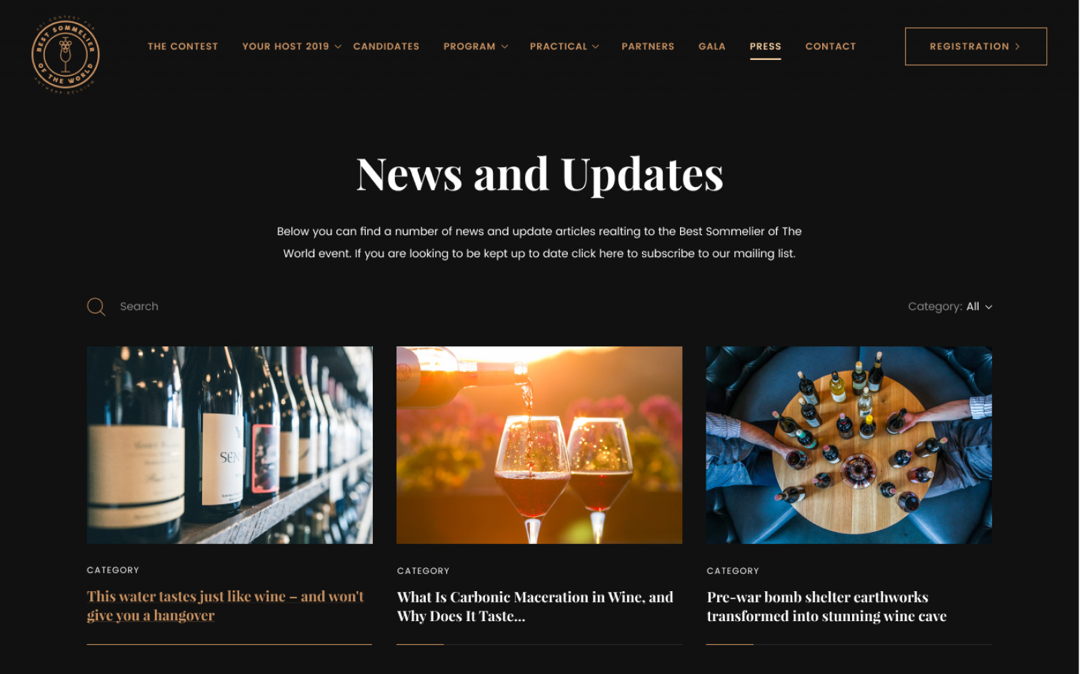 BEST SOMMELIER OF THE WORLD – News and Updates