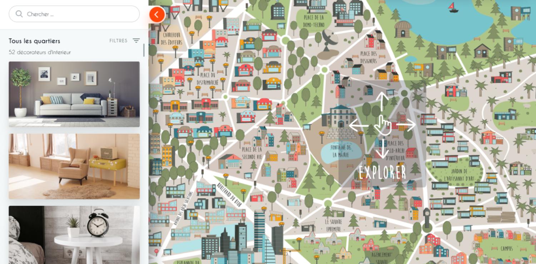 SPLANDEED Website – Map