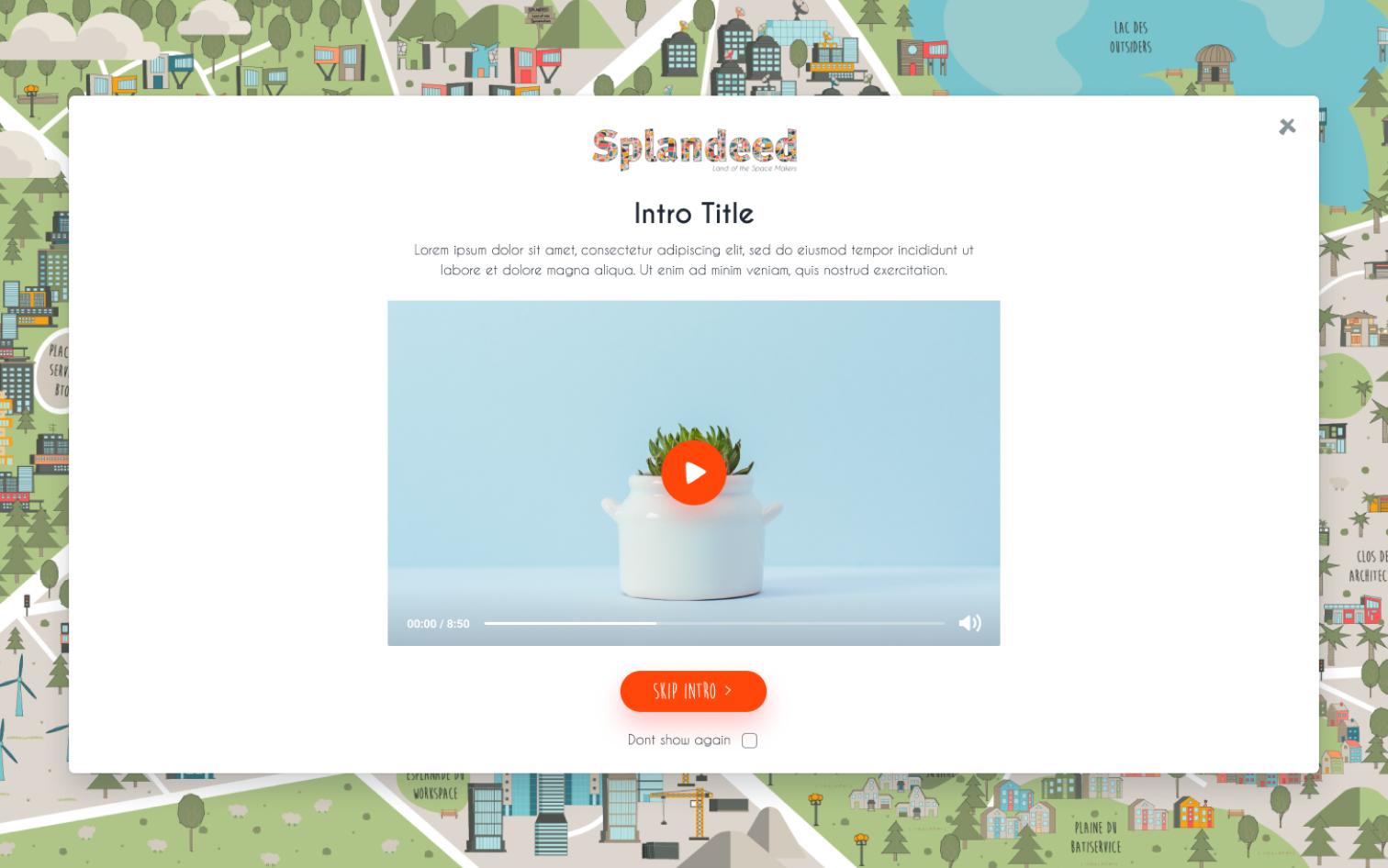 SPLANDEED Website – Intro Slide